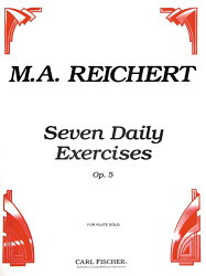 【輸入楽譜】ライヒェルト, Mathieu Andre: 7つの毎日の練習 Op.5