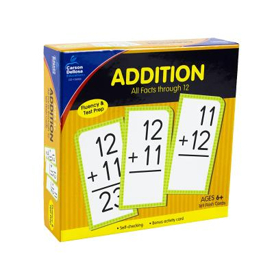 Addition All Facts Through 12 Flash Cards ADDITION ALL FACTS THROUGH 12 [ Carson-Dellosa Publishing ]