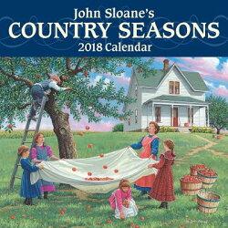 John Sloane's Country Seasons 2018 Mini Wall Calendar