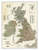 National Geographic: Britain and Ireland Executive Wall Map (23.5 X 30.25 Inches)