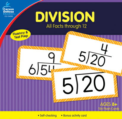 Division All Facts Through 12 Flash Cards DIV ALL FACTS THROUGH 12 FLASH [ Carson-Dellosa Publishing ]