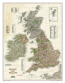 National Geographic: Britain and Ireland Executive Wall Map - Laminated (23.5 X 30.25 Inches)
