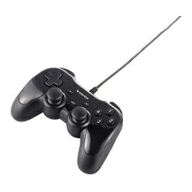 USBゲームパッド12ボタン 振動機能付 ブラック