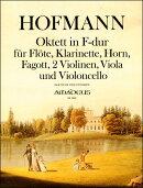 【輸入楽譜】ホフマン, F. Heinrich: 八重奏曲 ヘ長調 Op.80/Paeuler編: スコアとパート譜セット
