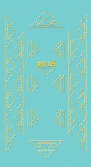 Triangles in Gold 2018 Pocket Calendar