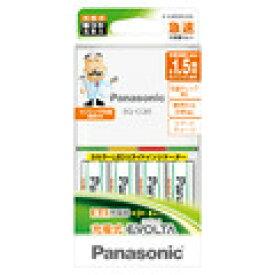 Panasonic 単3形充電式エボルタ 4本付 急速充電器セット K-KJ85MLE40