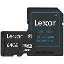 microSDXCカード SDアダプター付 64GB