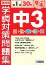 静岡県学調対策問題集中3・5教科(平成30年度(第1回))