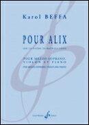 【輸入楽譜】ベッファ, Karol: アリックスのために - Sur un Poeme de Mathieu Laine(メゾ・ソプラノ、バイオリン、…