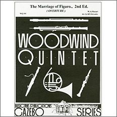【輸入楽譜】モーツァルト, Wolfgang Amadeus: オペラ「フィガロの結婚」序曲/木管五重奏用編曲
