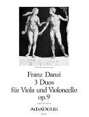 【輸入楽譜】ダンツィ, Franz: ビオラとチェロのための3つの二重奏曲 第2巻 Op.9/Druener編