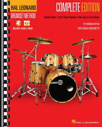 Hal Leonard Drumset Method - Complete Edition: Books 1 & 2 with Video and Audio