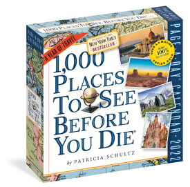 1,000 Places to See Before You Die Page-A-Day Calendar 2022: A Year of Travel 1000 PLACES TO SEE COLOR PAGE- [ Workman Calendars ]
