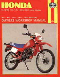 HondaXL-Xr80,100,125,185and200OwnersWorkshopManual,No.M566:1978-1987[ChrisRogers]