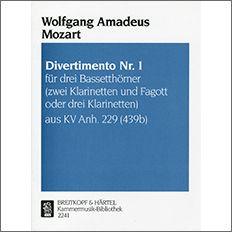 【輸入楽譜】モーツァルト, Wolfgang Amadeus: ディヴェルティメント 変ロ長調 KV Anh.229(KV 439b) 第1番 2本のク…