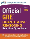 Official GRE Quantitative Reasoning Practice Questions, Second Edition, Volume 1