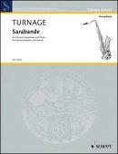 【輸入楽譜】ターネジ, Mark-Anthony: ソプラノ・サクソフォンとピアノのためのサラバンド