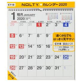 C118 NOLTYカレンダー壁掛け28 2020年1月始まり ([カレンダー])