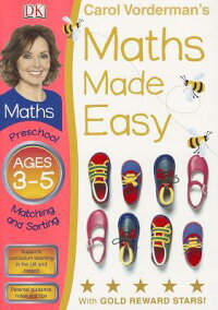 CarolVorderman'sMathsMadeEasy,Ages3-5,Preschool:MatchingandSorting[WithSticker(s)]