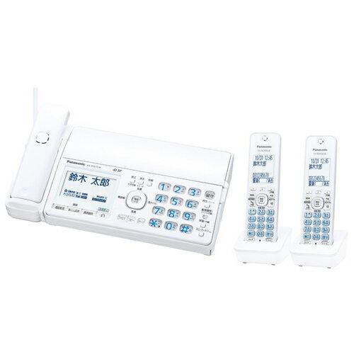 Panasonic デジタルコードレス普通紙ファクス(子機2台付き)(ホワイト) KX-PD515DW-W