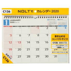 C136 NOLTYカレンダー壁掛け36 2020年1月始まり ([カレンダー])