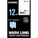ネームランドテープ 12ミリ 透明に黒文字 XR-12X