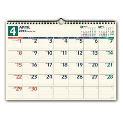 U115 4月始まりNOLTYカレンダー壁掛け14(2018)