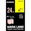 ネームランドテープ 24ミリ 黄地に黒文字 XR-24YW