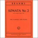 【輸入楽譜】ブラームス, Johannes: クラリネット・ソナタ 第2番 変ホ長調 Op.120/2