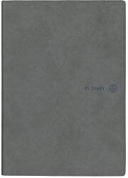ESダイアリー2019年 4月始まり A5 バーチカル+メモ  エレガントグレー