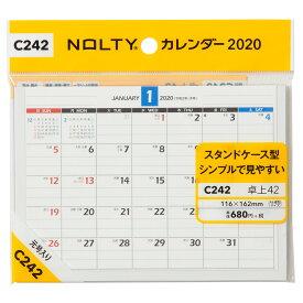 C242 NOLTYカレンダー卓上42 2020年1月始まり ([カレンダー])