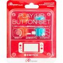 Switchジョイコン用 プレイアップボタンセット(レッド&ブルー)
