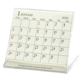 2020年 カレンダー 卓上 CDカレンダー アイボリー CLS-CD-05 [ ダイアリー ]