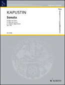 【輸入楽譜】カプースチン, Nikolai: フルート・ソナタ Op.125