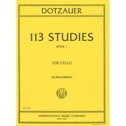 【輸入楽譜】ドッツァウアー, Justus Johann Friedrich: 113の練習曲 第1巻