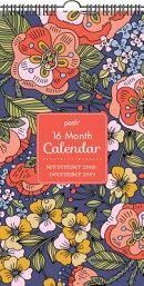 Posh: Folksy Flora 16-Month 2018-2019 Wall Calendar: September 2018-December 2019
