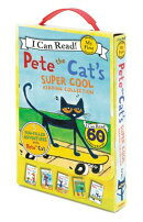 Pete the Cat's Super Cool Reading Collection: Too Cool for School/Play Ball!/Pete at the Beach/Pete'