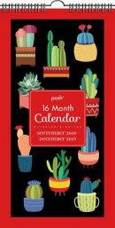 Posh: Succulents 16-Month 2018-2019 Wall Calendar