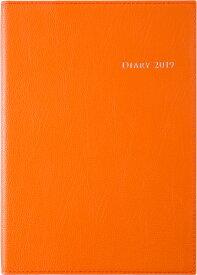 2019年版 1月始まり No.434 デスクダイアリーカジュアル4 オレンジ