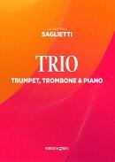 【輸入楽譜】サリエッティ, Corrado: トランペット、トロンボーンとピアノのための三重奏曲