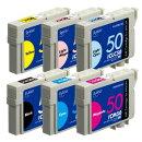 IC6CL50互換インクカートリッジ 6色パック PLE-E506P-N2