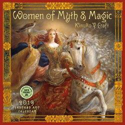 Women of Myth & Magic 2019 Wall Calendar: Fantasy Art Calendar