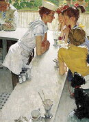 Norman Rockwell's the Soda Jerk from the Saturday Evening Post Notebook