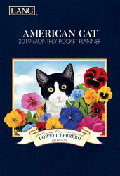 American Cat 2019 4.5 X 6.5 Monthly Pocket Planner
