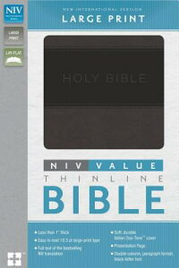 NIV,ValueThinlineBible,LargePrint,ImitationLeather,Gray/Black[Zondervan]