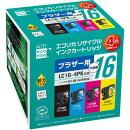 LC164PK互換リサイクルインクカートリッジ 4色パック ECI-BR164P/BOX エコリカ