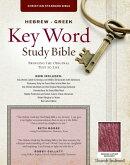 The Hebrew-Greek Key Word Study Bible: CSB Edition, Burgundy Genuine Indexed