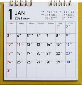 2021年版 1月始まり E181 カラフルエコカレンダー卓上 (ゴールド) 高橋書店 B6変型サイズ (卓上)