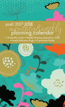 Posh: Neon Meadow 2017-2018 Monthly/Weekly Planning Calendar