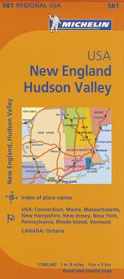 Michelin Usa: New England, Hudson Valley Map 581 MAP-MICHELIN USA NEW ENGLAND H (Maps/Regional (Michelin)) [ Michelin ]
